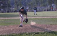 A Somerton Spartans player pitches a fastball during an NEPL game. Photo by Laura D'Alfonso.