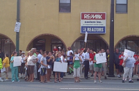 Hundreds attended a rally Tuesday to express opposition to a methadone clinic on the 7900-block of Frankford Avenue.