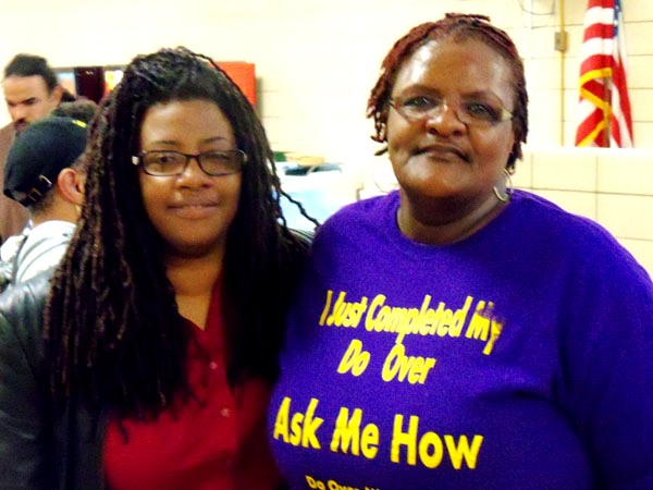 Cheryl Gourdine, outreach coordinator of Grace Temple Baptist Church in Lawnside, N.J. (left) and Frances Williams, founder and program director of Do Over Ministry organized volunteers and donations