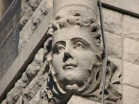 Children's faces ornament the Swain mansion now used as the Ronald McDonald house. | PlanPhilly