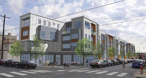 Rendering of Carpenter Square, a planned development at 17th and Carpenter streets.