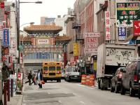 School bus in Chinatown, Philadelphia | Flickr user flodigrip | Creative Commons