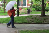Don't forget the umbrella: There's an 80% chance of rain and thunderstorms today.
