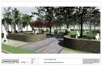 Rendering of Lovett Memorial Library park. | Community Design Collaborative