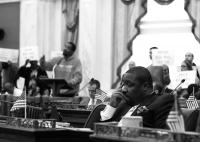 Councilman Kenyatta Johnson during Thursday's eminent domain hearing. | Jared Brey, PlanPhilly