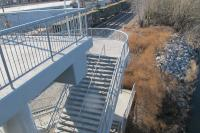 Some day these stairs from the South Street Bridge will connect to a new trail segment extending southward to Christian Street.