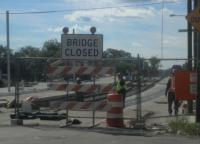 The city expects the 40th Street bridge to reopen this November