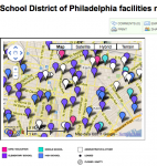 New School District of Philadelphia facilities map