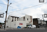 Stanley's Hardware on Ridge Avenue in Roxborough is undergoing renovations. (Bas Slabbers/for NewsWorks)