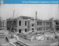 The construction of the old West Philadelphia High School building, from 1912.