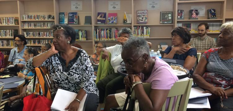 Staying cool in a changing climate workshop in North Philadelphia.