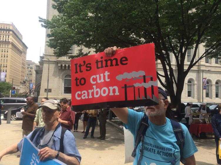 About 50 people gather on Tuesday to protect the Clean Power Plan