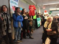 It was standing room only as protestors fill SEPTA's board room in opposition to a proposed gas plant in Nicetown