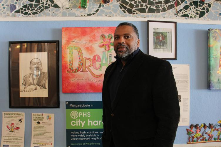 Jerome Shabazz  runs the Overbook Environmental Education Center. Credit: Emma Lee/WHYY