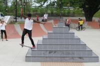 Jonathan Jones skating on 'Pyramid' in Paine's Park | Ashley Hahn, PlanPhilly