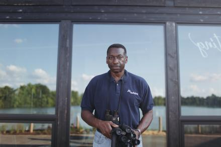 Keith Russell, Urban Conservation Program Manager for Audubon Pennsylvania, at the Discovery Center. | Neal Santos for PlanPhilly