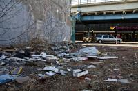 "Kensington Avenue and F streets is rated a ""4"" on Philadelphia's Litter Index. (Kimberly Paynter/WHYY)"