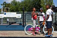 Kids at Wister Playground in Germantown (2016) | Kimberly Paynter / WHYY