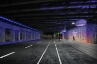 Lighting and art concept for underpass portion of the Spring Garden Connector project