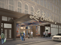 Lit Brothers building entrance rendering, December 2016 Architectural Committee meeting