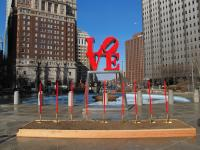 LOVE Park groundbreaking, February 2016: Shovels ready