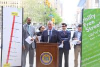 Mayor Jim Kenney announces the 2018 Philly Free Streets route — North Broad Street from City Hall up to Erie Avenue. (City of Philadelphia)