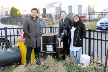 Members of Feed the Barrel, a community organization that recycles cooking oil in Philadelphia. | Sofia Guernica