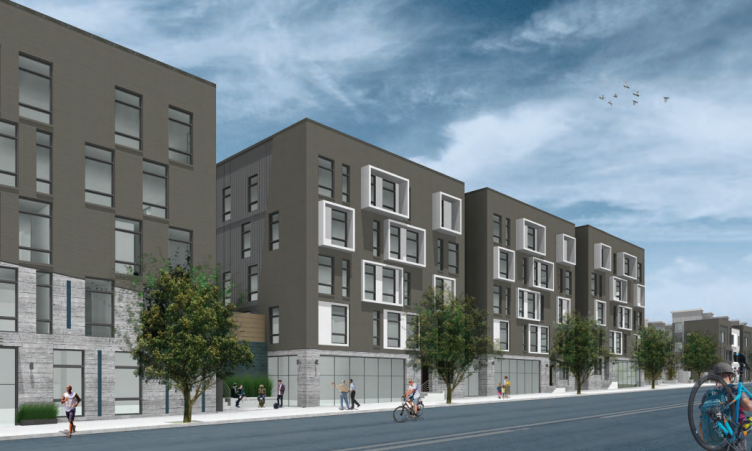 Multi-Family Buildings from East Lehigh Ave. (Credit: KJO Architecture)