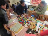 Parents from John H. Taggart Elementary School gather materials to create model | Mifflin Square Plan