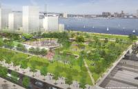 Penn's Landing rendering, park looking east | Hargreaves Associates & redsquare