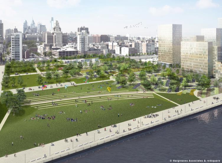 Penns Landing Park by day,  © Hargreaves Associates & redsquare