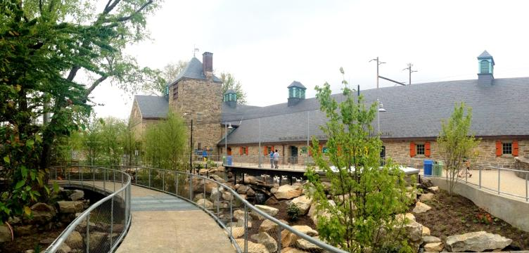 The renovation project included the Paul Cret pachyderm house and surrounding grounds, Photo courtesy of SMP Architects