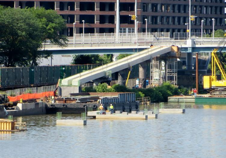 Construction is currently centered near the South Street Bridge