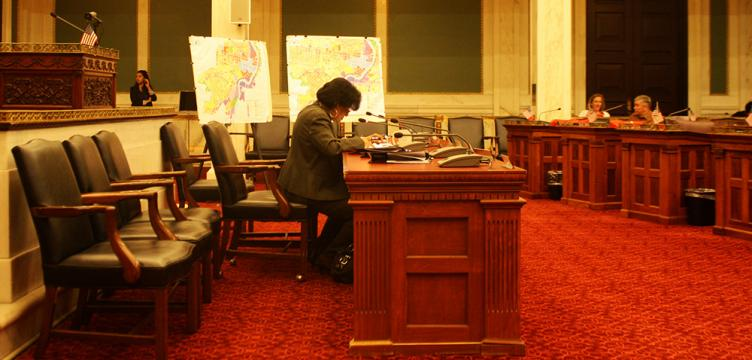Councilwoman Jannie Blackwell, whose parking bill was delayed in the Rules Committee