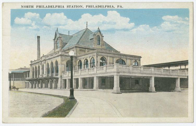 Postcard of the former North Philadelphia Station. | The Library Company of Philadelphia