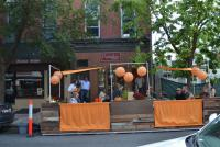 The Pumpkin Market parklet, 2012