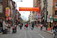 Race Street in Philadelphia's Chinatown. Chinese immigrants make up the single largest group of foreign-born residents in the city.