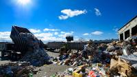 Recyclables being dumped at the Materials Recovery Facility (MRF) in the Grays Ferry neighborhood in South Philadelphia, PA, on February 13th, 2017. (Bastiaan Slabbers for NewsWorks)
