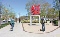 Rendering of AMOR at Sister Cities Park | Art Commission presentation Sept. 2016
