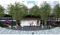 Rendering of new coffee shop for Dilworth Plaza