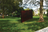 Rendering of Richard Serra sculpture on the Rodin Museum grounds, presented at December 2016 Art Commission meeting