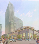 Rendering of Tower Investments development at Broad and Washington, looking northeast | Cope Linder Architects, Feb. 2016