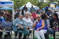 Residents gather to join in the festivities at the 12th Annual Strawberry Mansion Day.