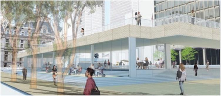 2013 Reyburn Plaza / Paine Plaza conceptual rendering | Philadelphia City Planning Commission