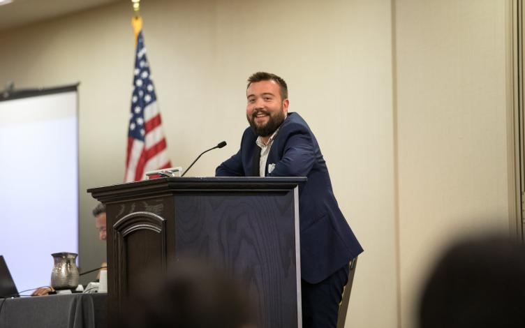Rob Buscher at the 2018 Japanese American Citizens League National Convention held at the Sheraton Philadelphia Downtown Hotel. | Brandon Mikata Miyasaki