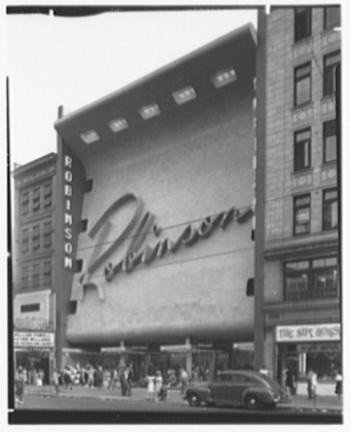 Robinson store, 1946 | Gottoscho Schleisner Collection, Library of Congress