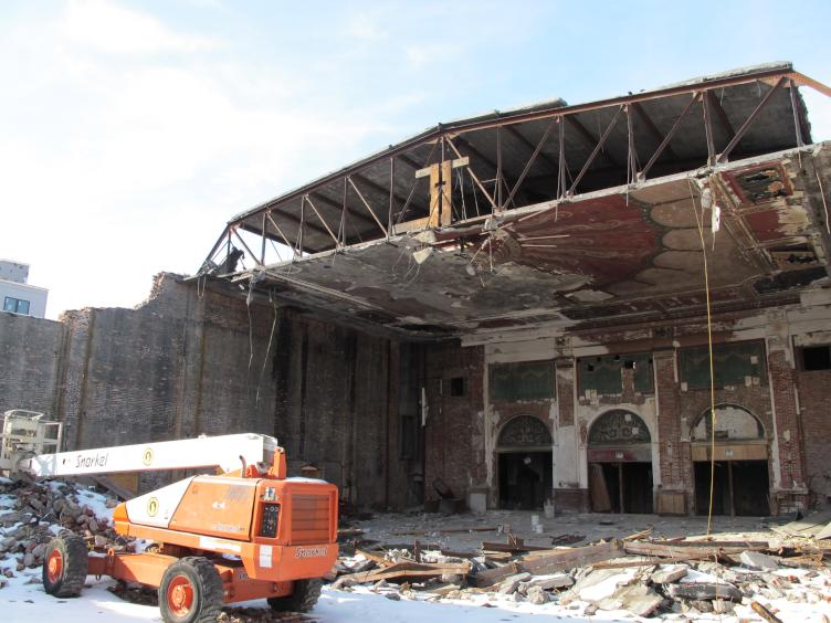 The Royal Theater was demolished in 2017 (Ashley Hahn/PlanPhilly)
