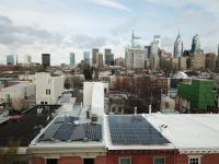 Solar panels on Philadelphia rowhouses. (Adam Stein for Solar States)