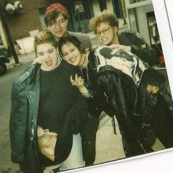 A snapshot of Venise Whitaker (left, in black leather jacket) taken in Philly in the early '90s, with her friends. (Photo courtesy of Venise Whitaker)