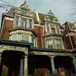 Students share converted Victorian homes in the Spruce Hill section of West Philadelphia.